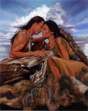 Native American Couple in Love