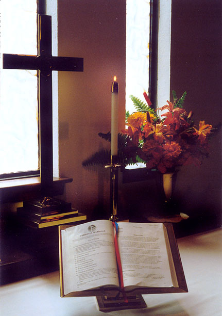 Open bible during wedding ceremony